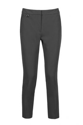 Adrianna Papell Mid Waist Solid Stretch Crepe Pants with Pockets